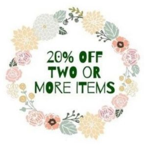 20% OFF 2 or more items 🤗
